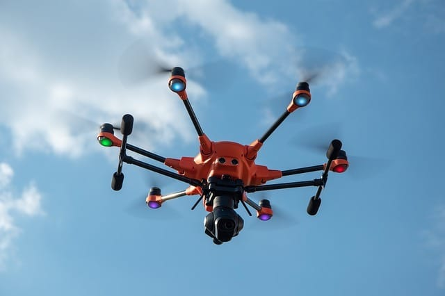 drones for sighting pests