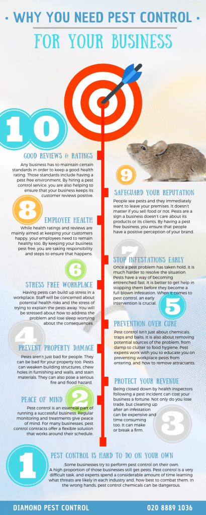 diamond commercial pest control infographic