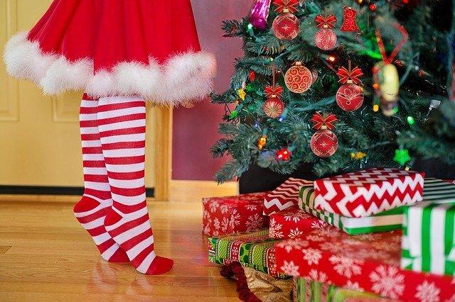 christmas tree pests on presents