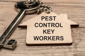 pest control key workers sign