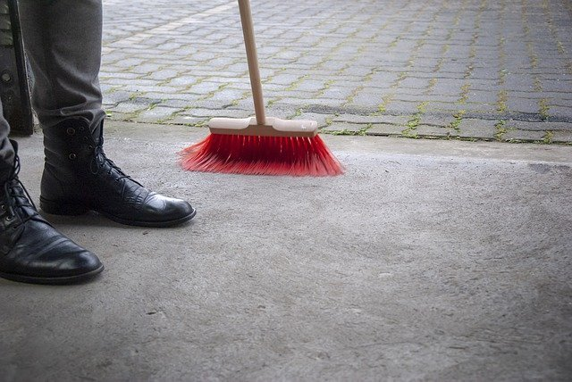 sweeping up london garage