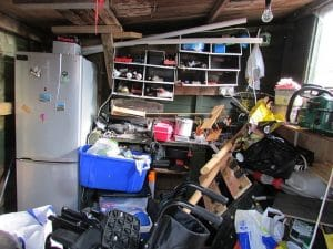 very messy home