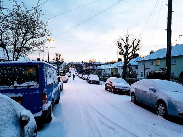 london street in winter