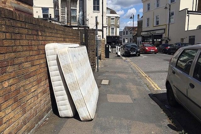 mattress on street