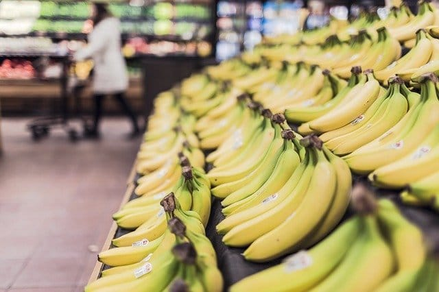 bananas in a london shop