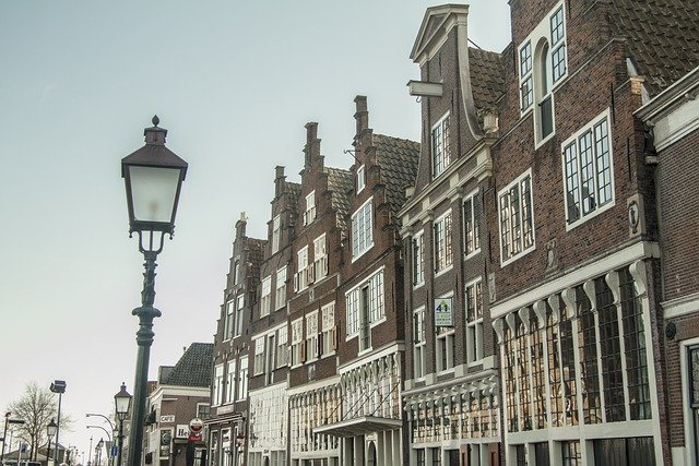 row of old houses in london