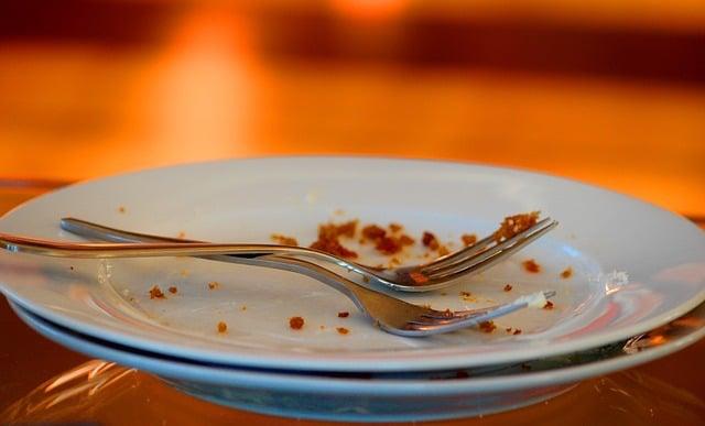 plates left unwashed
