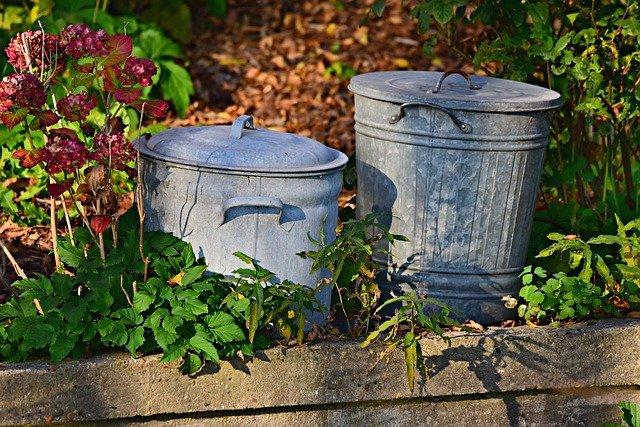rubbish bins in london garden